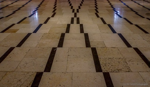 the floor in the basilica of the annunciation near in Nazareth