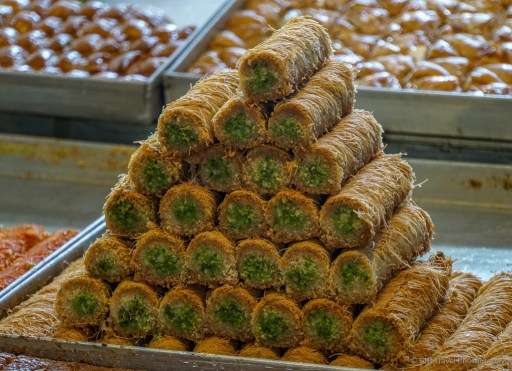 baklava at the carmel market in Tel Aviv