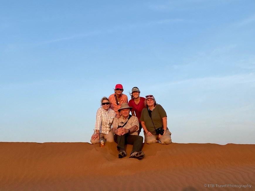 group pic in Sharqiya Sands