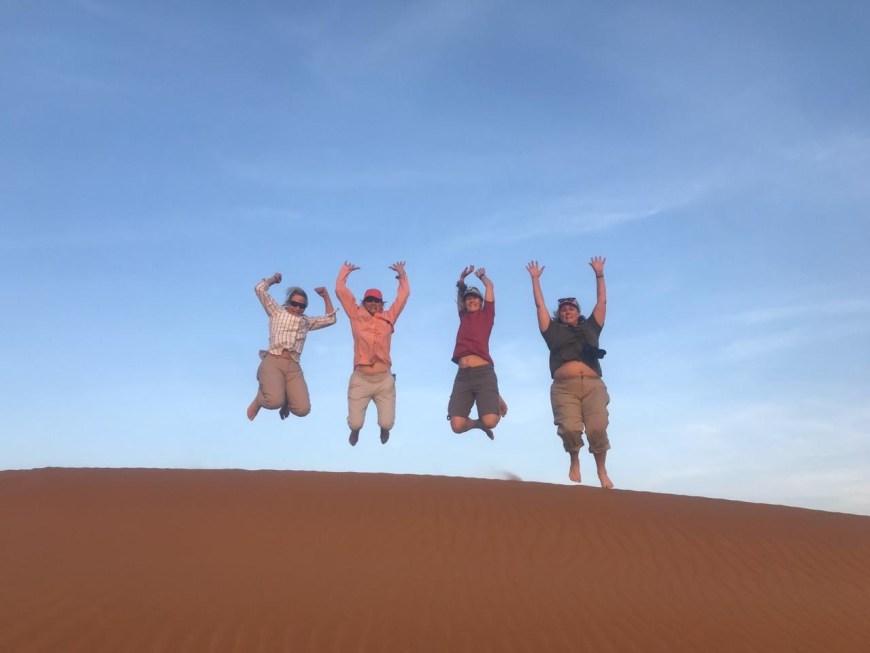 jumping blooper in Sharqiya Sands