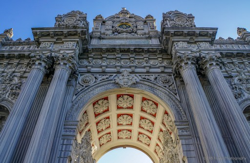 gate of sultan at dolmabahce palace in istanbul
