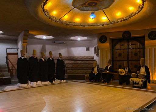 beginning of whirling dervish ceremony