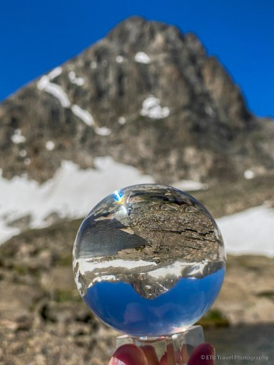 lensball photography of little blue lake