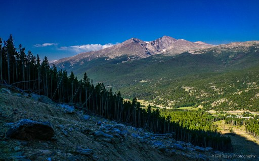 view of longs peak in rocky mountain national park