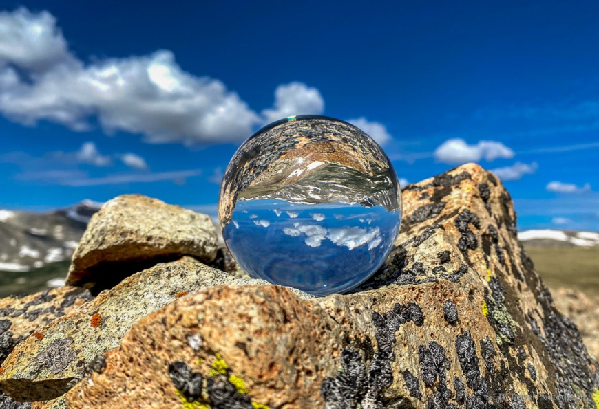 lensball on pennsylvania mountain