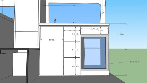 zoom of kitchen layout and selections