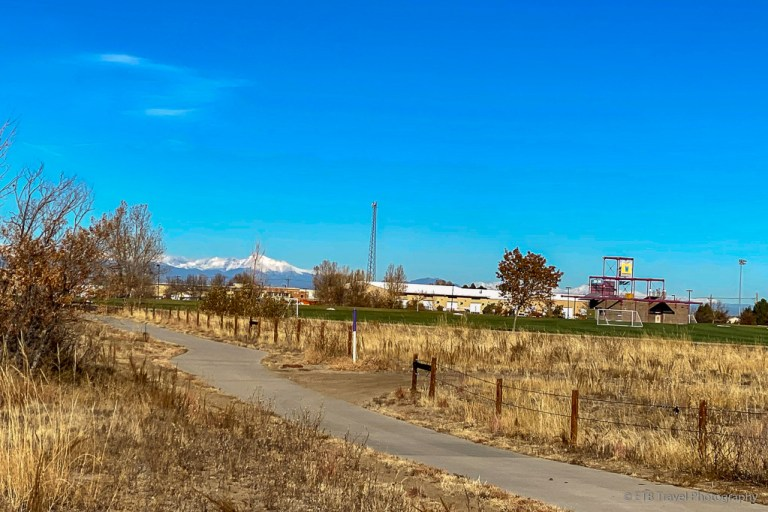 the perimeter trail at Aurora Sports Park