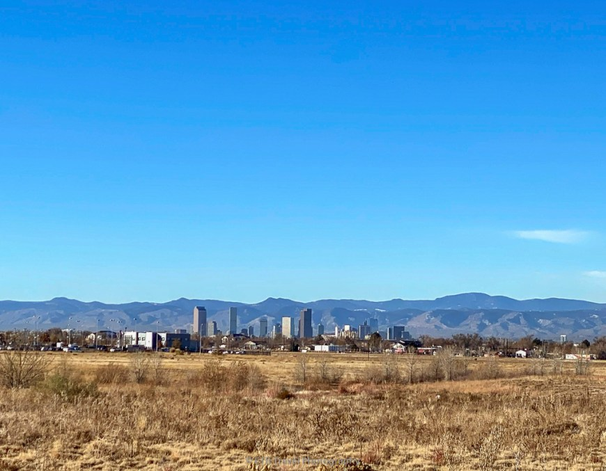 view of denver from Prairie Gateway Open Space