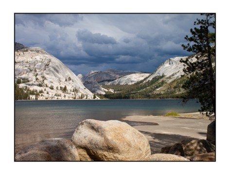 photographic note card, lake in Yosemite