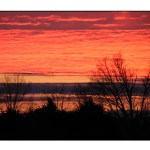 photographic note card, sunset in mississippi