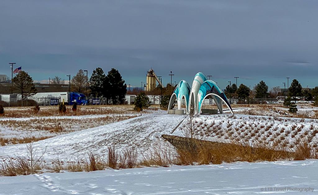 sculpture at prairie basin park