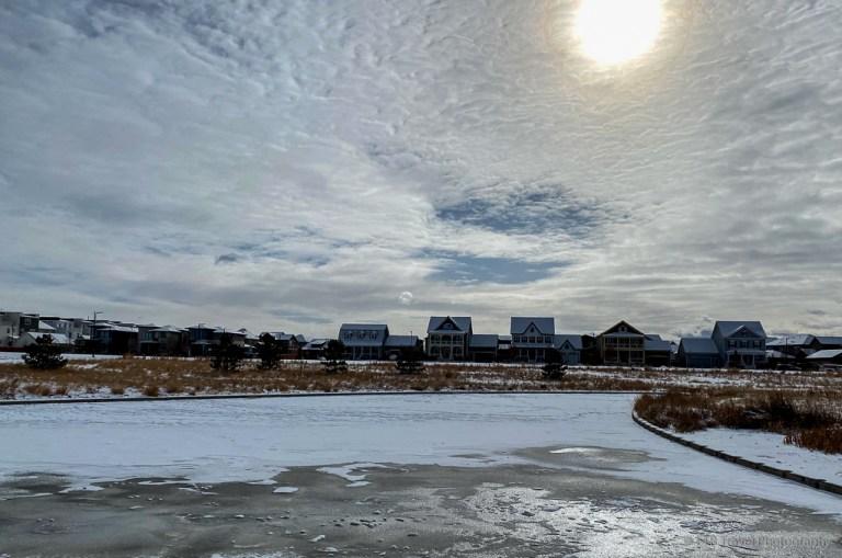 retention pond at Prairie Basin Park
