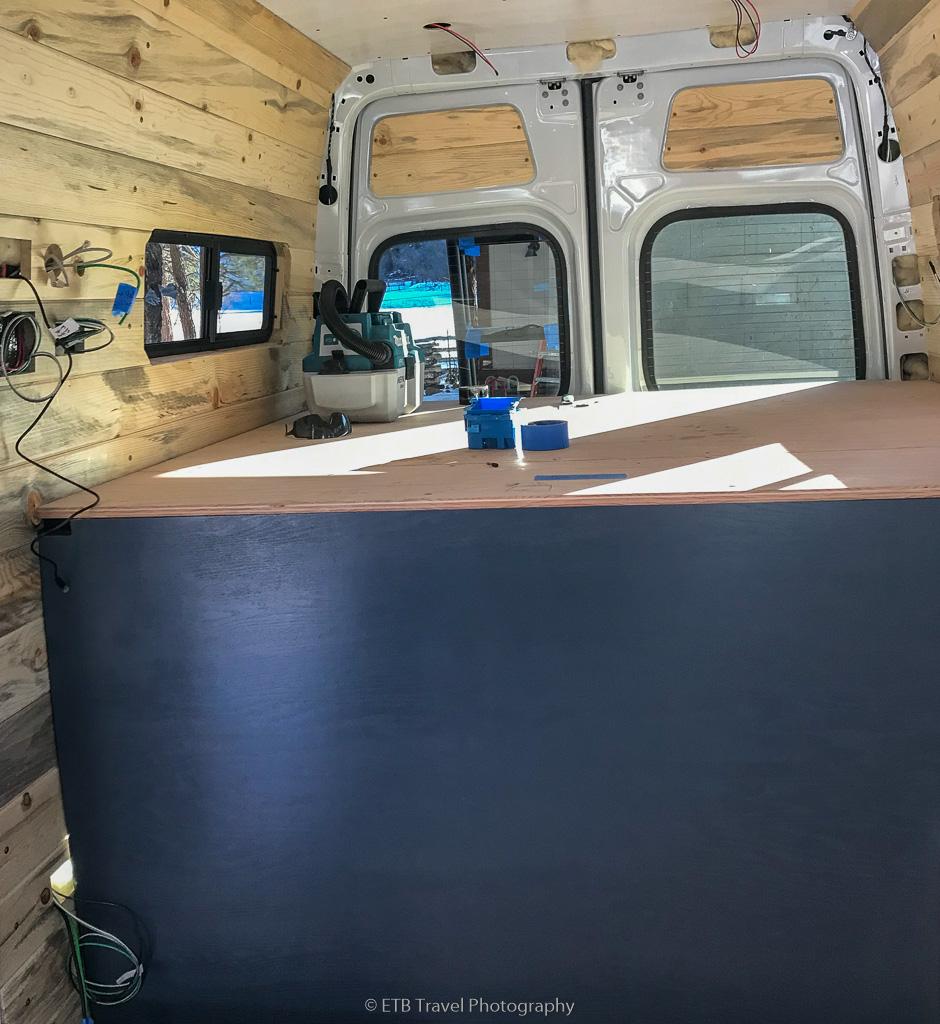bed in camper conversion