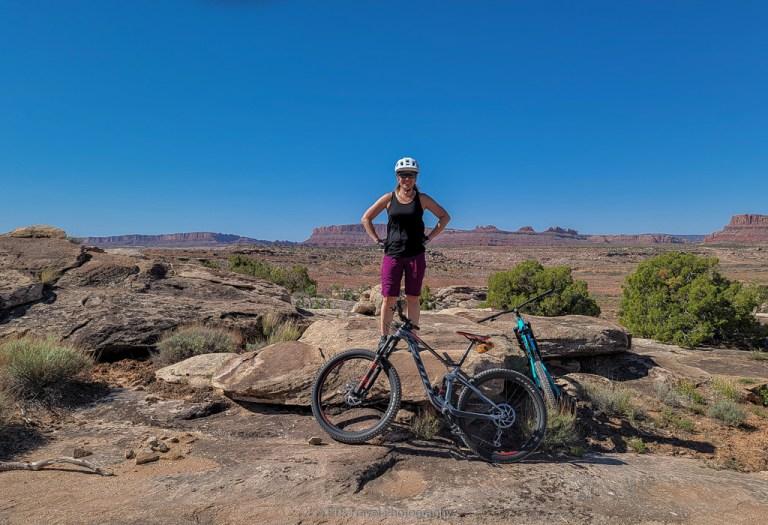 mountain biking at Klonzo Trailhead off Willow Springs Road