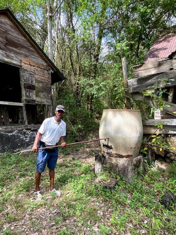 meno on the plantation tour at anse chastenet