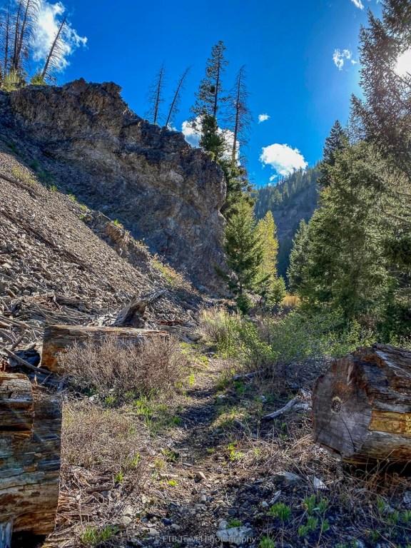 rock formation on murdock trail