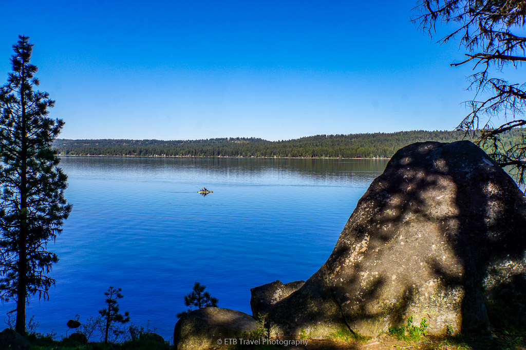view of payette lake from ponderosa state park