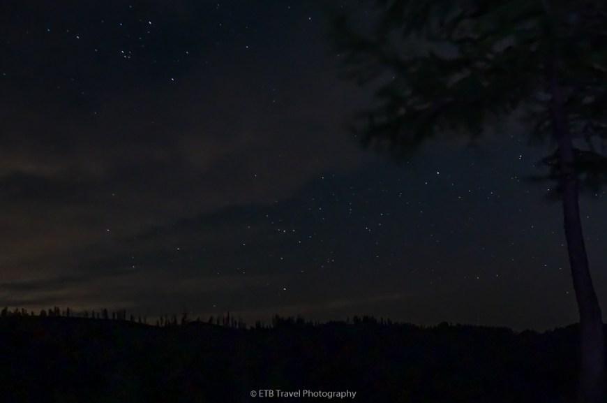 night sky on chase mountain
