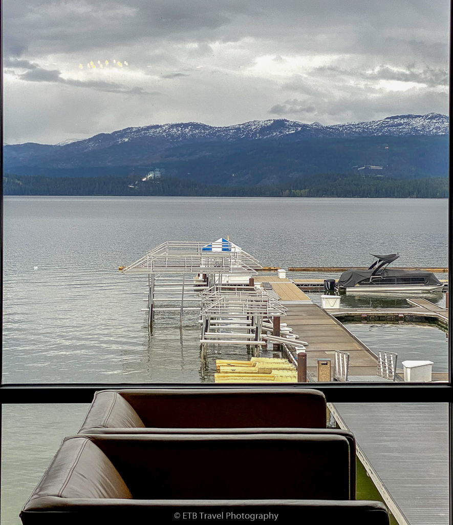 view of payette lake from shore lodge