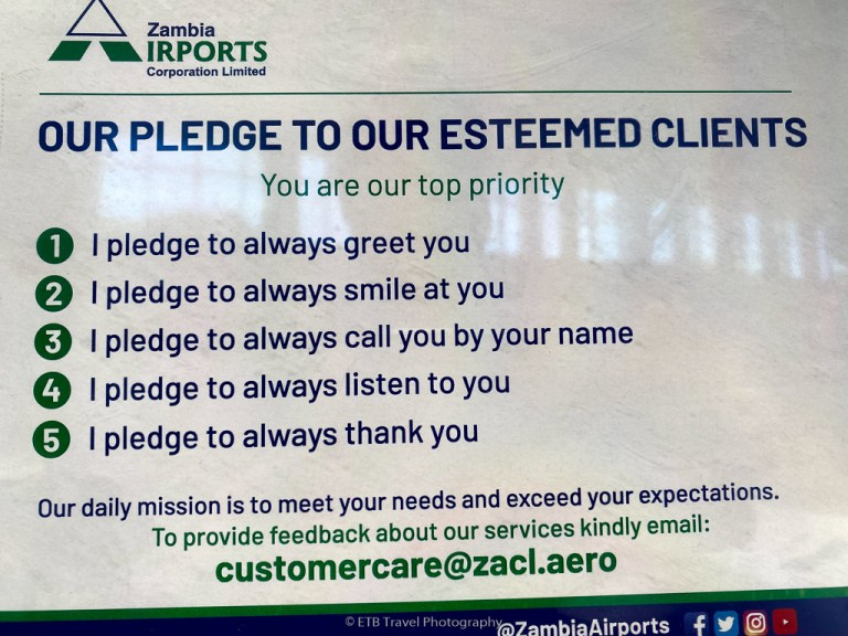 pledge of zambia airlines