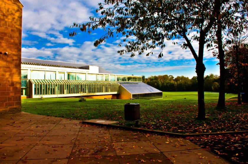 The Burrell Collection within the Pollock Country Park, Glasgow, UK.