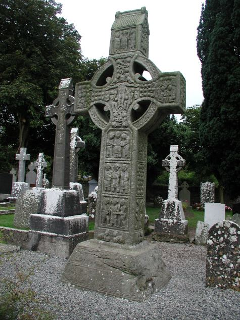 Muiredach's Cross, located in Monasterboice, County Louth, Ireland. This high cross dates from the tenth century CE.