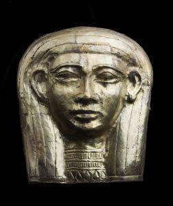 Mask of Queen Malakaye 664–653 B.C. Gilt silver *Harvard University—Boston Museum of Fine Arts Expedition *Photograph © Museum of Fine Arts, Boston