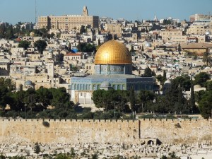 Jerusalem's Dome of the Rock marks the site where Jews believe Abraham was preparing to sacrifice his son Isaac and where Muslims believe the Prophet Muhammad journeyed to heaven. (photo: Rick Steves)