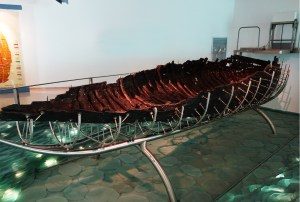 A small museum near the Sea of Galilee holds the Jesus Boat — the remains of a typical fisherman's boat from the first century A.D. (photo: Rick Steves)