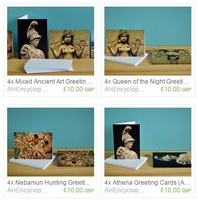 We've got a great selection of ancient history greeting cards!