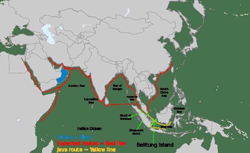 Belitung_ship_routes