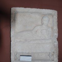 Relief of a reclining woman. Photo by Diane Siebrandt, U.S. State Department, 2008.