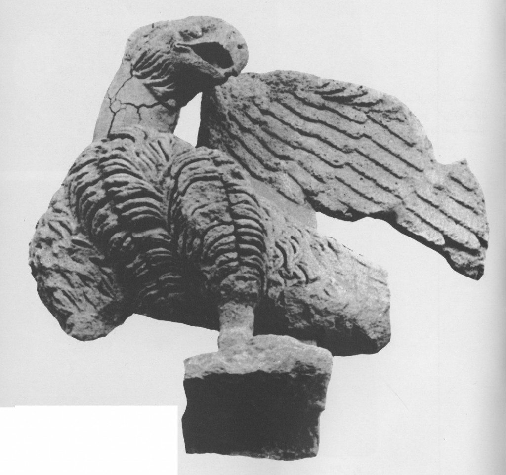 Mosul Museum eagle prior to reconstruction. From Safar and Mustafa, Hatra: The City of the Sun God, pl. 133, p. 143.