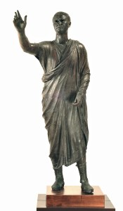 Portrait Statue of Aule Meteli (Arringatore). Late second century BCE bronze 179 cm. Florence, Museo Archeologico Nazionale.