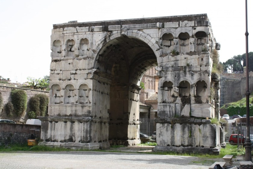 The 4th century CE Arch of Janus, Rome.