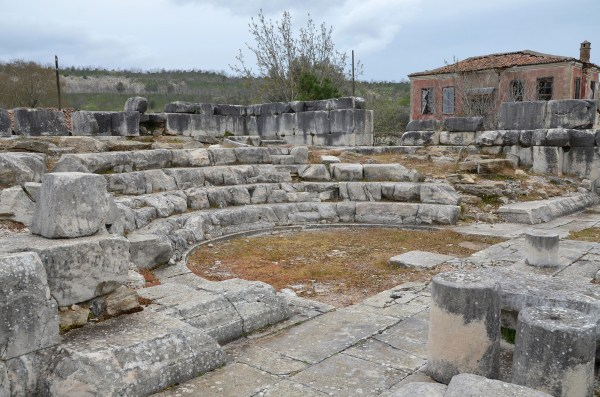 The Bouleuterion of Stratonicea, built in the Late Hellenistic period. The four lower rows of seats are still preserved.