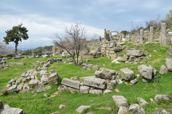 View of the differentes terraces of the Sanctuary of Zeus Labraundos at Ladraunda.