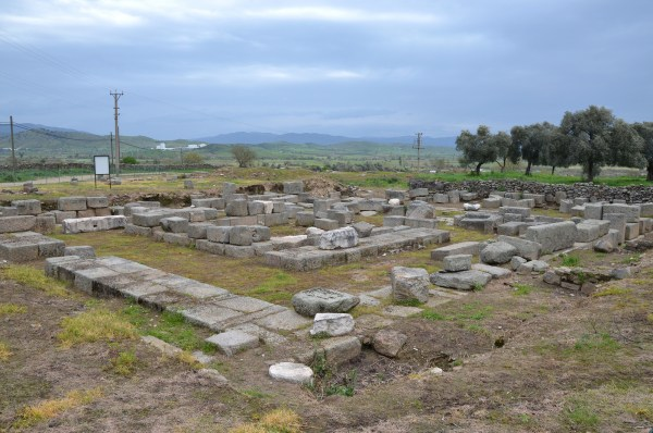The ruins of the Ionic Temple of Apollo Isotimos in Alabanda, built in the 2nd century BC.