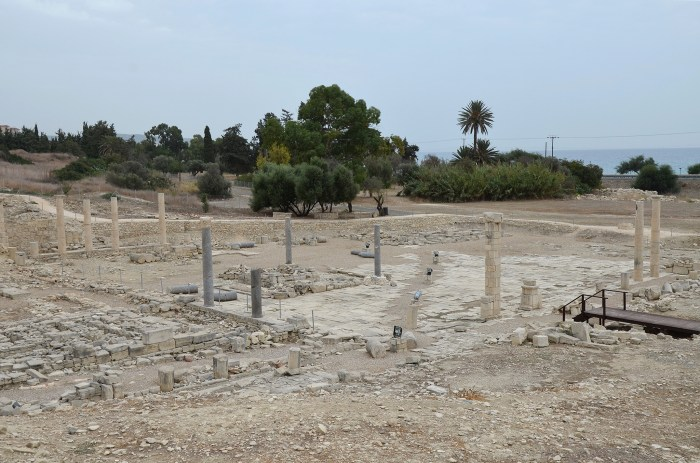 The Agora dating back to the Hellenistic period, it consisted of a large rectangular stone-paved area with porticoes on four sides, Amathus