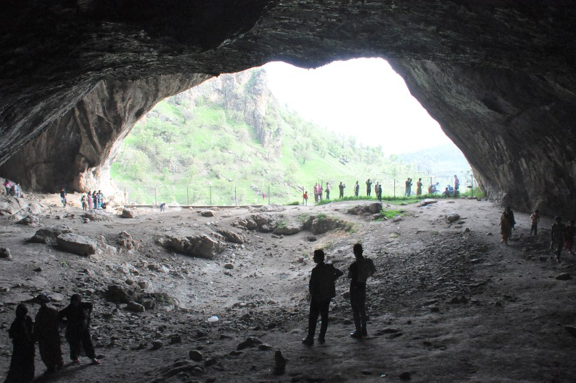 Inside Shanidar Cave, one of the caves. Photo © Osama S. M. Amin.