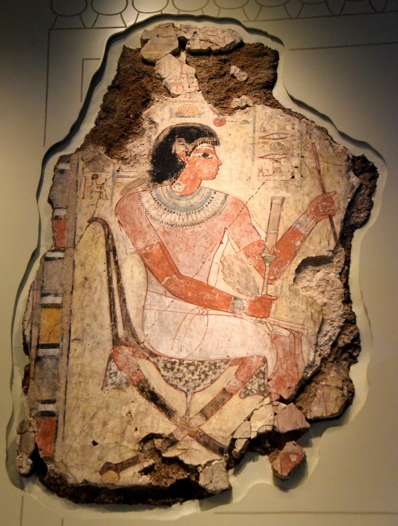 Nebamun sits on a chair and inspects his geese and cattle. The British Museum, London. Photo © Osama S. M. Amin.