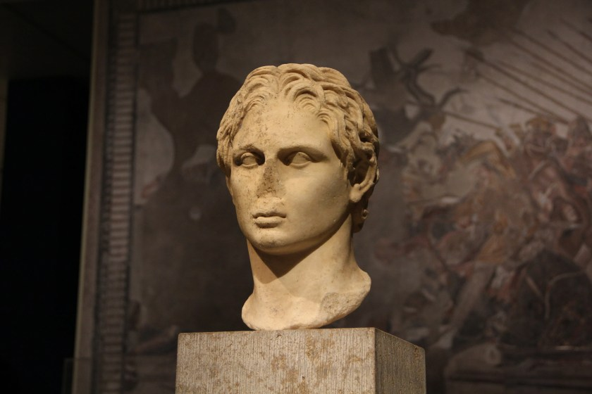 Portrait of Alexander the Great at the Metropolitan Museum of Art's Hellenistic exhibition. Image © Caroline Cervera.