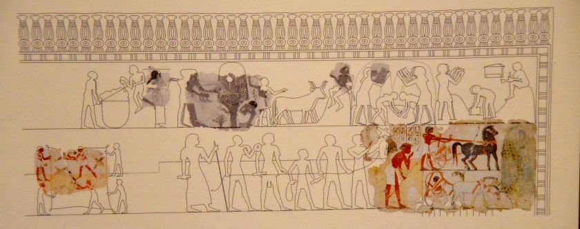 Reconstruction of the whole scene, drawing by C. Thorne and R. B. Parkinson. Photographs of the Berlin Museum fragments by L. Liepe, copyright Agyptisches Museum, Berlin. This image was photographed by Osama S. M. Amin. The British Museum, London.