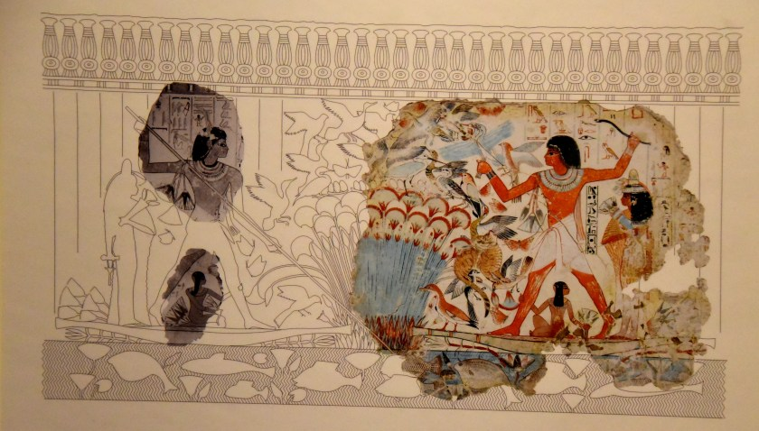Reconstruction of this wall scene. Drawing by C. Thorne and R. B. Parkinson. Photgraphs of other fragments courtesy of the Association of Egyptologique Riene Elizabeth, Brussels. The British Museum London. Photographed by and © Osama S. M. Amin.