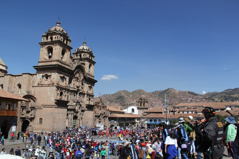 The Cusco Cathedral during a festival shortly before the winter solstice. Photo © Caroline Cervera. Inca architecture