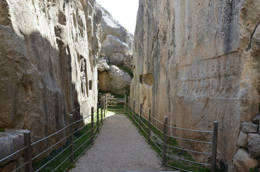 Chamber B. The narrow gallery is thought to be a memorial chapel for Hittite king Tudhaliya IV, dedicated by his son Suppiluliuma II.
