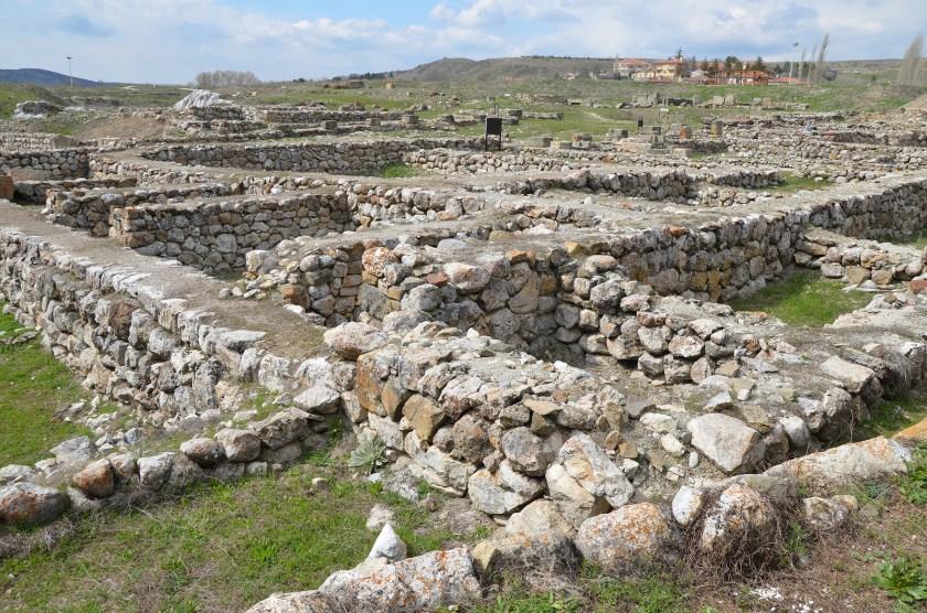 Overview of Alacahöyük. Hittite city.
