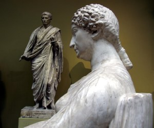 Cast of Agrippina the Younger in reflection. Pushkin Museum. Image © Shakko; CC-A-3.0.
