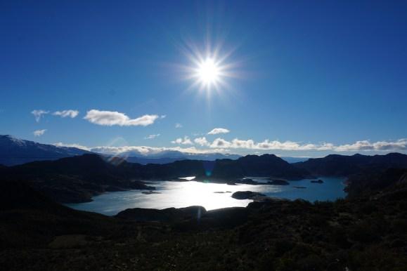 Vue sur le magnifique lac General Carrera