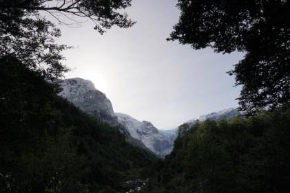 Le fameux glacier du parc Queulat.